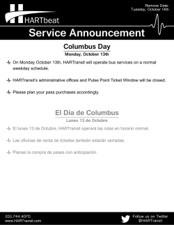 Columbus Day Holiday Schedule