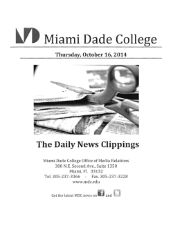 October 16, 2014 - Miami Dade College