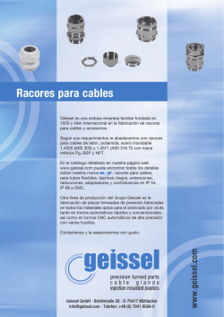 Racores para cables - Geissel GmbH