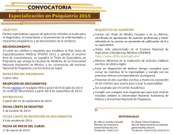 Convocatoria: Especializacion_2015