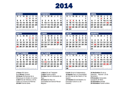 Almanaque 2015 - Calendario 2014
