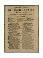 El honrador de su padre - Biblioteca Virtual Miguel de Cervantes