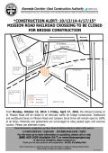Mission Road railroad crossing to be closed for bridge construction