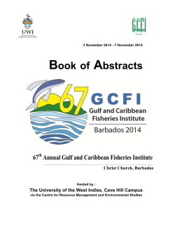 Book of Abstracts - Gulf and Caribbean Fisheries Institute