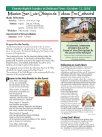 October 12, 2014 - Mission San Luis Obispo de Tolosa