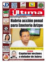 Habría acción penal para Emeterio Arizpe - La Última Palabra