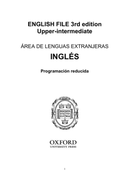 English File 3rd Ed. Upper-intermediate Programación reducida EOI