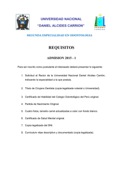 requisitos de inscripción 2015 - CEPICISA