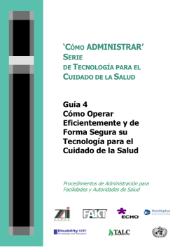 """CÓMO ADMINISTRAR"" - Health Partners International"