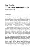 Luigi Miraglia, CÓMO (NO) SE ENSEÑA EL LATÍN - Xtec