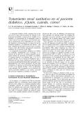Tratamiento renal sustitutivo en el paciente diabético. - Revista