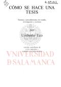 Cómo hacer una tesis-Umberto Eco - OCW Usal