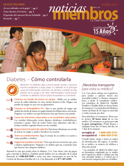 Diabetes – Cómo controlarla - LA Care Health Plan