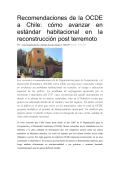 Recomendaciones de la OCDE a Chile: cómo avanzar en estándar