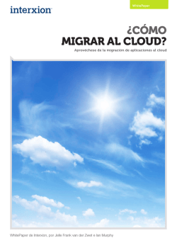 ¿CÓMO MIGRAR AL CLOUD? - Interxion