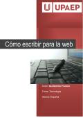 Cómo escribir para la web - UPAEP Online