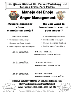 ¿Quiere aprender cómo manejar su enojo? Do you want to learn