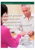 ¿Cómo pueden detectar una depresión los médicos de Primaria?