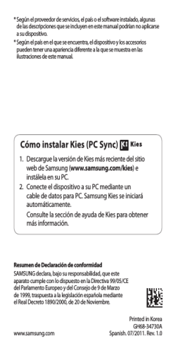 Cómo instalar Kies (PC Sync) - Movistar