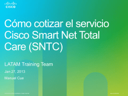 Cómo cotizar el servicio Cisco Smart Net Total Care (SNTC)