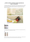 ¿Cómo colocar cerámica sobre soportes de - Pavimarsa Online