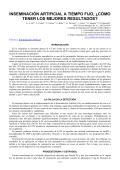 INSEMINACIÓN ARTIFICIAL A TIEMPO FIJO, ¿CÓMO TENER LOS