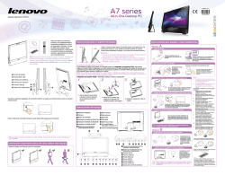 Lenovo IdeaCentre A700 Quick Reference V1.0 (Spanish)