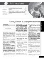Cómo justificar el gasto por donaciones - Revista Actualidad