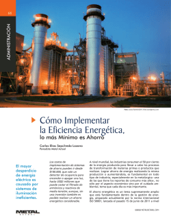 Cómo Implementar la Eficiencia Energética, - Revista Metal Actual