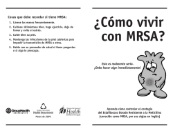 ¿Cómo vivir con MRSA? - Pierce County Health Department