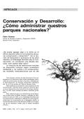 Conservación y Desarrollo: ¿Cómo administrar nuestros - Cipma
