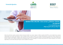 MARKETING ONLINE: Cómo atraer y fidelizar clientes en internet
