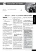VIII ¿Cómo se elige la forma societaria adecuada? - Revista