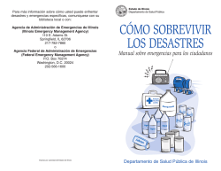CÓMO SOBREVIVIR LOS DESASTRES - Illinois Department of