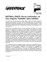 Llama la atención cómo las empresas de celulosa - Greenpeace