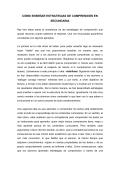 CÓMO ENSEÑAR ESTRATEGIAS DE COMPRENSIÓN EN