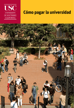Cómo pagar la universidad - University of Southern California