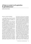 ¿Cómo se armó en la práctica la globalización?