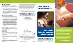 Cómo armar el rompecabezas . . . . . . para - Child Care Aware