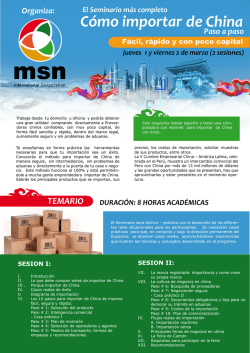 Cómo importar de China - msn international corporation