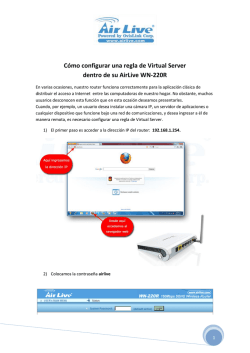 Cómo configurar una regla de Virtual Server dentro - Marketing IT