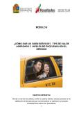 MODULO 6 ¿CÓMO DAR UN BUEN SERVICIO?, TIPS DE VALOR