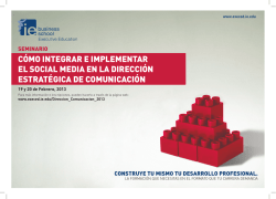 CÓMO INTEGRAR E IMPLEMENTAR EL SOCIAL MEDIA EN - Ow.ly