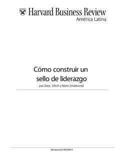 Cómo construir un sello de liderazgo - Insight
