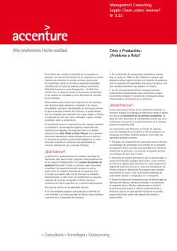 Management Consulting Supply Chain ¿cómo innovar - Accenture