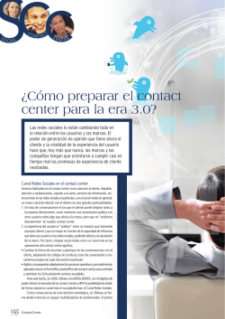 ¿Cómo preparar el contact center para la era 3.0? - revista contact