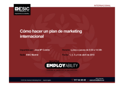 Cómo hacer un plan de marketing internacional - Esic