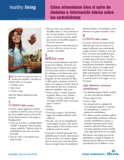 Cómo alimentarse bien si sufre de diabetes [Eat well with diabetes]