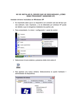¿Cómo Instalar Drivers y Controladores en Windows XP?