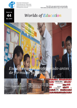 44 Worlds of Education Escuchemos al profesorado antes de